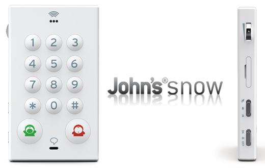 John's Phone - white