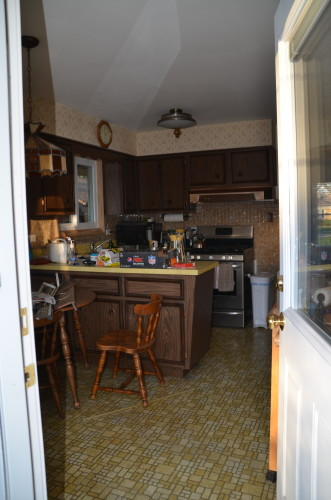 Kitchen before - back door